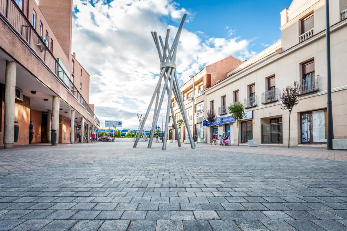 Plaza Brihuega. Zona peatonal